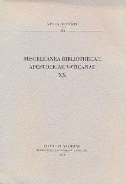 Immagine di Miscellanea Bibliothecae Vaticanae