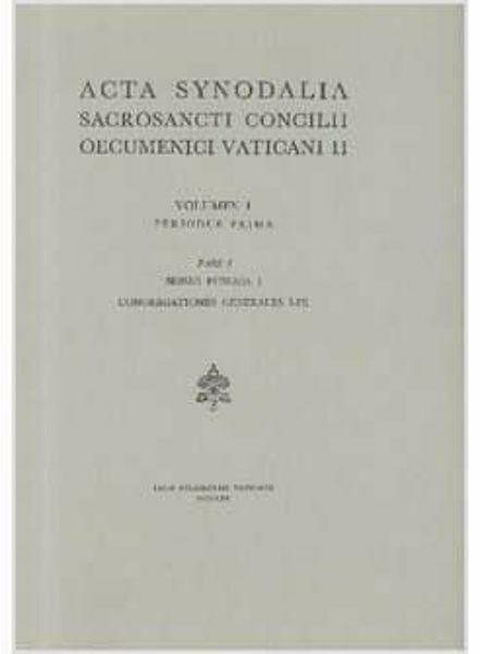 Imagen de Pars I: Sessio publica I. Congregationes generales I-IX
