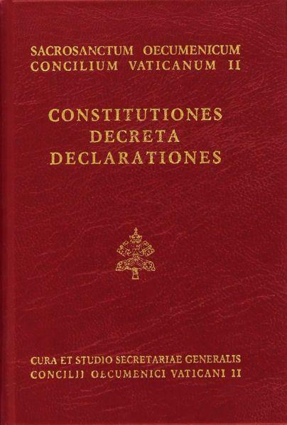 Immagine di Constitutiones, Decreta, Declarationes. Cura et studio secretariae generalis Concilii Oecumenici Vaticani II. Editio Minor 1966, iterum impressa 1993