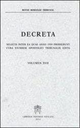 Immagine di Decreta selecta inter ea quae anno 1983 prodierunt cura eiusdem Apostolici Tribunalis edita. Volumen I anno 1983 Rotae Romanae Tribunal