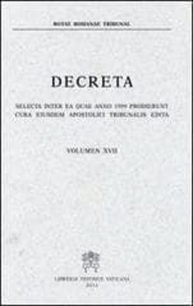 Imagen de Decreta selecta inter ea quae anno 1983 prodierunt cura eiusdem Apostolici Tribunalis edita. Volumen I anno 1983 Rotae Romanae Tribunal