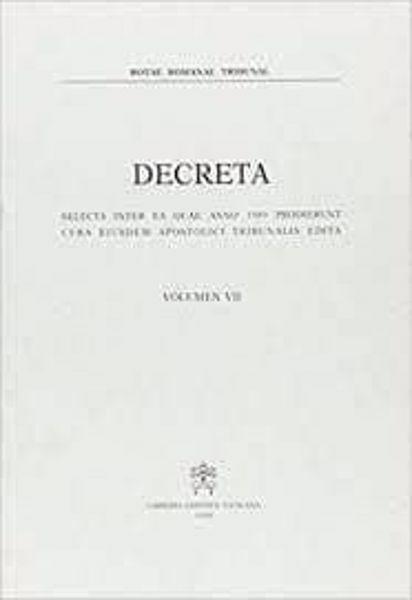 Picture of Decreta selecta inter ea quae anno 1984 prodierunt cura eiusdem Apostolici Tribunalis edita. Volumen II anno 1984 Rotae Romanae Tribunal