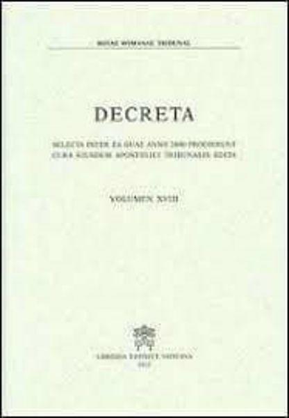Immagine di Decreta selecta inter ea quae anno 1985 prodierunt cura eiusdem Apostolici Tribunalis edita. Volumen III anno 1985 Rotae Romanae Tribunal