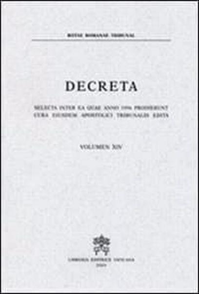 Imagen de Decreta selecta inter ea quae anno 1986 prodierunt cura eiusdem Apostolici Tribunalis edita. Volumen IV anno 1986 Rotae Romanae Tribunal