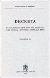 Immagine di Decreta selecta inter ea quae anno 1997 prodierunt cura eiusdem Apostolici Tribunalis edita. Volumen XV anno 1997 Rotae Romanae Tribunal