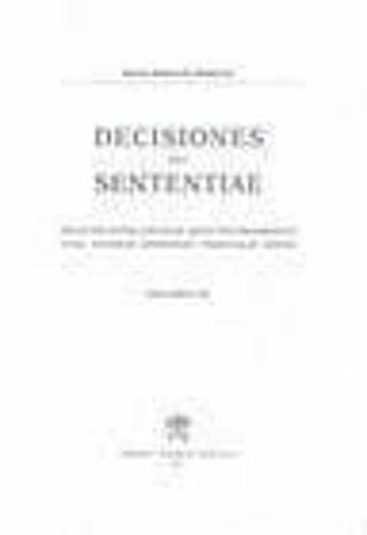 Imagen de Decisiones Seu Sententiae Anno 1941 Vol. 33 Rotae Romanae Tribunal
