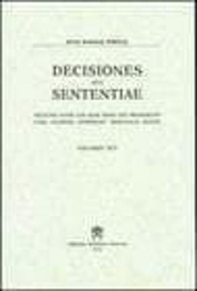 Picture of Decisiones Seu Sententiae Anno 1963 Vol. 55 Rotae Romanae Tribunal