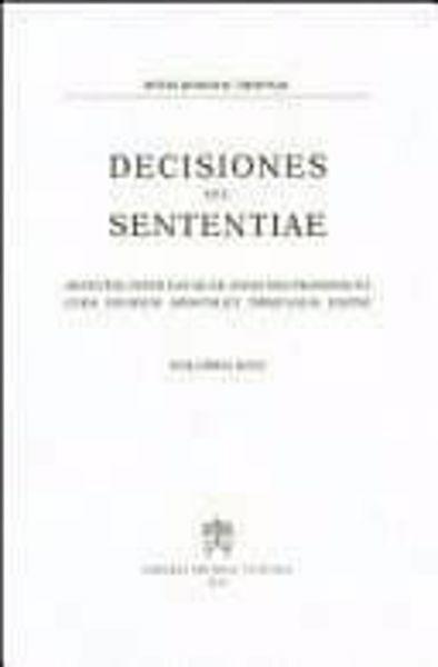 Imagen de Decisiones Seu Sententiae Anno 1978 Vol. 70 Rotae Romanae Tribunal