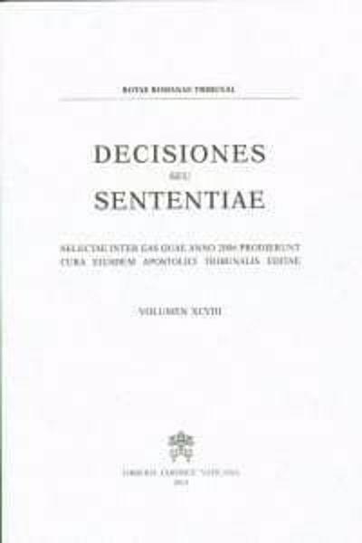 Picture of Decisiones Seu Sententiae Anno 1996 Vol. 88 Rotae Romanae Tribunal