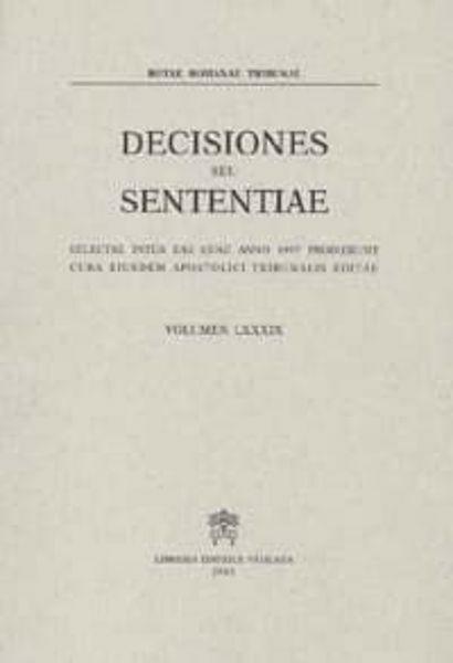 Imagen de Decisiones Seu Sententiae Anno 1997 Vol. 89 Rotae Romanae Tribunal