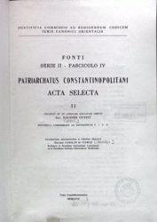 Immagine di Patriarchatus Constantinopolitani Acta Selecta, II Pontificia Commissio ad Redigendum Codicem Iuris Canonici Orientalis