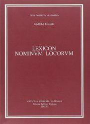Immagine di Lexicon nominum locorum Carlo Egger