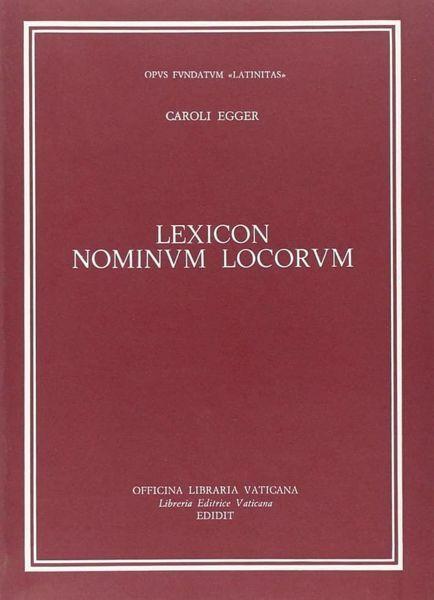 Imagen de Lexicon nominum locorum Carlo Egger