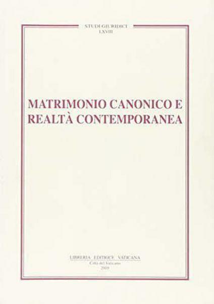 Immagine di Matrimonio canonico e realtà contemporanea