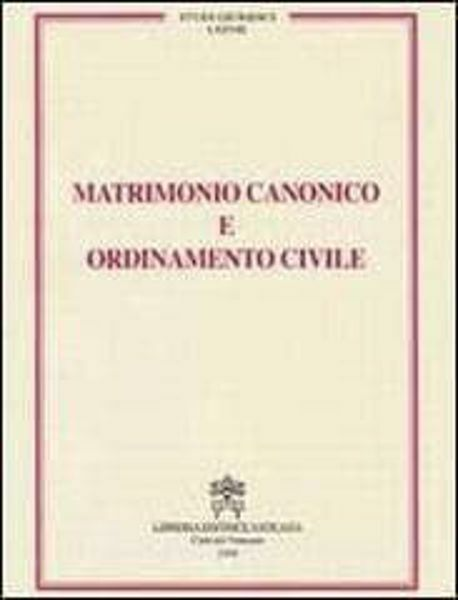 Imagen de Matrimonio canonico e ordinamento civile Carlo Gullo