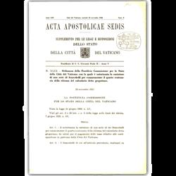 Picture of Acta Apostolicae Sedis  Supplemento per le Leggi e Disposizioni - 2020 Subscription
