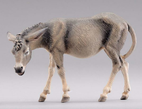 Picture of Donkey Standing  cm 12 (4,7 inch) Hannah Alpin dressed Nativity Scene in Val Gardena wood