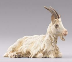Picture of Goat lying cm 12 (4,7 inch) Hannah Orient dressed Nativity Scene in Val Gardena wood
