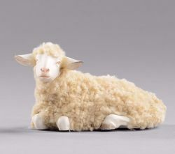 Picture of Sheep with wool lying cm 12 (4,7 inch) Hannah Orient dressed Nativity Scene in Val Gardena wood