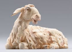 Picture of Sheep lying cm 12 (4,7 inch) Hannah Orient dressed Nativity Scene in Val Gardena wood