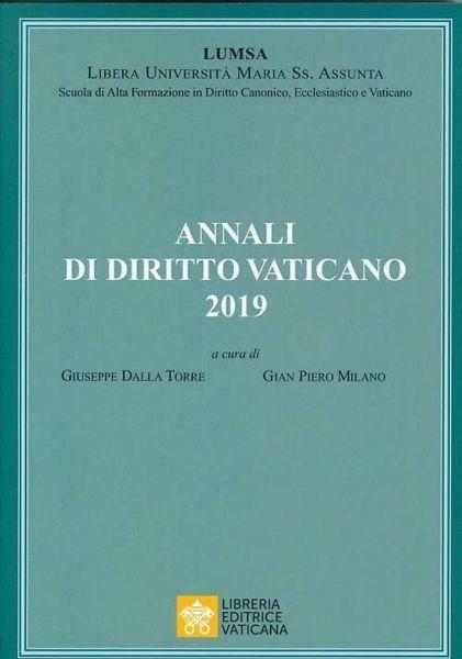 Imagen de Annali di Diritto Vaticano 2019 Giuseppe Della Torre, Gian Piero Milano