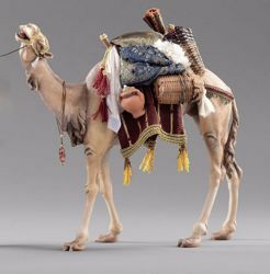 Imagen de Camello con silla cm 14 (5,5 inch) Pesebre vestido Hannah Alpin en madera Val Gardena