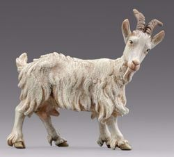 Imagen de Cabra que mira a derecha cm 14 (5,5 inch) Pesebre vestido Hannah Alpin en madera Val Gardena