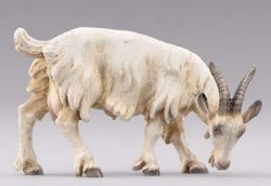 Imagen de Cabra que come cm 14 (5,5 inch) Pesebre vestido Hannah Alpin en madera Val Gardena