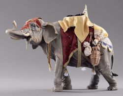 Picture of Elephant with saddle cm 14 (5,5 inch) Hannah Alpin dressed Nativity Scene in Val Gardena wood