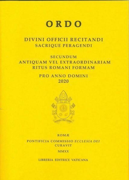 Imagen de Ordo Divini Officii Recitandi Sacrique Peragendi pro Anno Domini 2020 Pontificia Commissione Ecclesia Dei