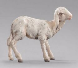 Picture of Lamb standing cm 12 (4,7 inch) Immanuel dressed Nativity Scene oriental style Val Gardena wood statue