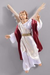 Picture of Glory Angel cm 55 (21,7 inch) Hannah Orient dressed nativity scene Val Gardena wood statue with fabric dresses