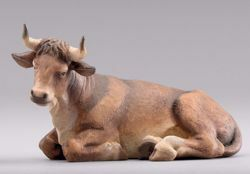 Picture of Ox lying cm 55 (21,7 inch) Hannah Orient dressed Nativity Scene in Val Gardena wood