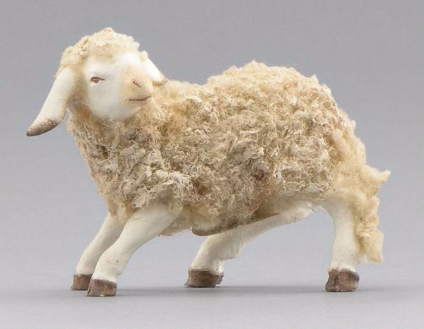 Picture of Lamb looking leftwards cm 55 (21,7 inch) Immanuel dressed Nativity Scene oriental style Val Gardena wood statue