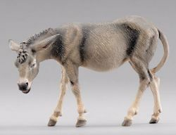 Picture of Donkey Standing  cm 40 (15,7 inch) Hannah Alpin dressed Nativity Scene in Val Gardena wood