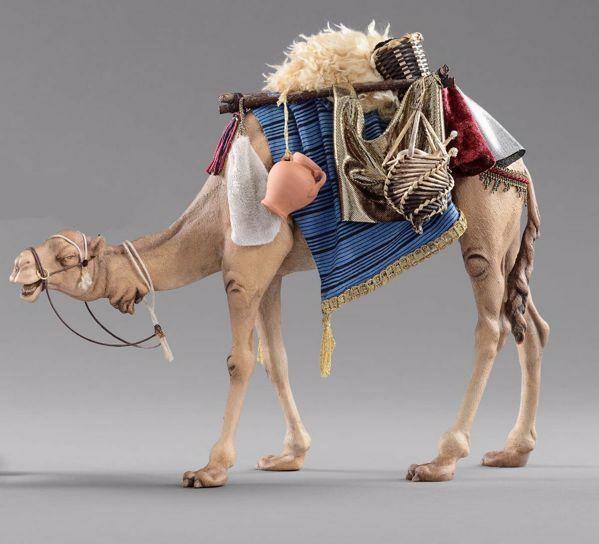 Imagen de Camello con silla cm 40 (15,7 inch) Pesebre vestido Hannah Alpin en madera Val Gardena