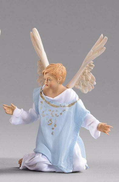 Picture of Little Angel cm 40 (15,7 inch) Hannah Orient dressed nativity scene Val Gardena wood statue with fabric dresses
