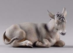 Picture of Donkey lying cm 40 (15,7 inch) Hannah Orient dressed Nativity Scene in Val Gardena wood