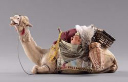 Immagine di Cammello sdraiato cm 40 (15,7 inch) Presepe vestito Hannah Orient Statua in legno Val Gardena
