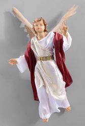 Picture of Glory Angel cm 14 (5,5 inch) Hannah Orient dressed nativity scene Val Gardena wood statue with fabric dresses