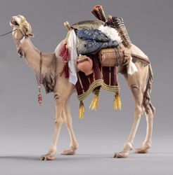 Imagen de Camello con silla cm 14 (5,5 inch) Pesebre vestido Hannah Orient en madera Val Gardena