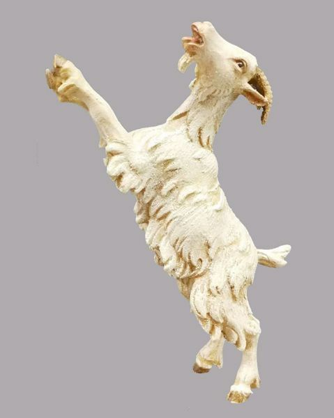 Immagine di Capra che si arrampica cm 14 (5,5 inch) Presepe vestito Hannah Orient Statua in legno Val Gardena