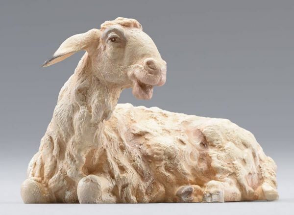 Picture of Sheep lying cm 14 (5,5 inch) Hannah Orient dressed Nativity Scene in Val Gardena wood