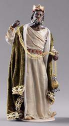 Immagine di Baldassarre Re Magio Moro cm 14 (5,5 inch) Presepe vestito Hannah Orient statua in legno Val Gardena abiti in tessuto