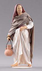 Imagen de Mujer con jarra cm 14 (5,5 inch) Pesebre vestido Hannah Orient estatua en madera Val Gardena con trajes de tela