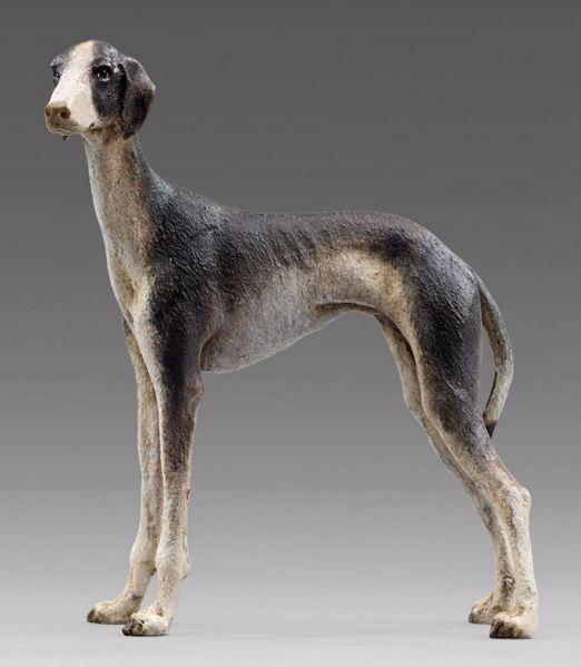 Picture of Greyhound cm 14 (5,5 inch) Immanuel dressed Nativity Scene oriental style Val Gardena wood statue