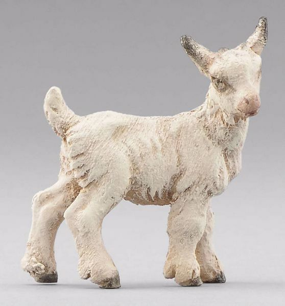 Picture of Little Goat standing cm 14 (5,5 inch) Immanuel dressed Nativity Scene oriental style Val Gardena wood statue