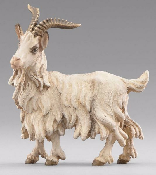 Picture of He-Goat Standing cm 14 (5,5 inch) Immanuel dressed Nativity Scene oriental style Val Gardena wood statue