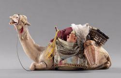 Immagine di Cammello sdraiato cm 20 (7,9 inch) Presepe vestito Hannah Alpin Statua in legno Val Gardena