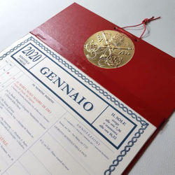 Imagen de Monthly wall block calendar 2021 tear off pages Tipografia Vaticana Vatican Typography